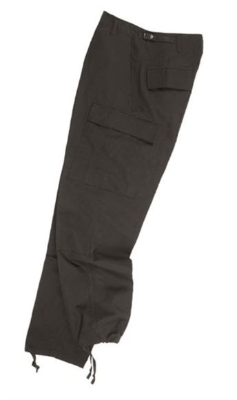 Picture of US BLACK R/S BDU FIELD PANTS
