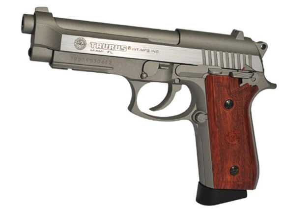 Picture of TAURUS PT92 HAIRLINE SILVER