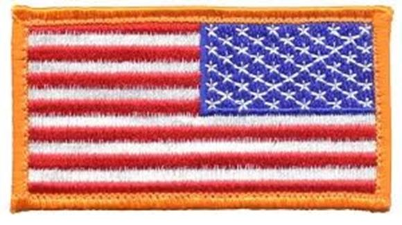 Picture of USA REVERSE FLAG VELCRO PATCH Velcro Patch